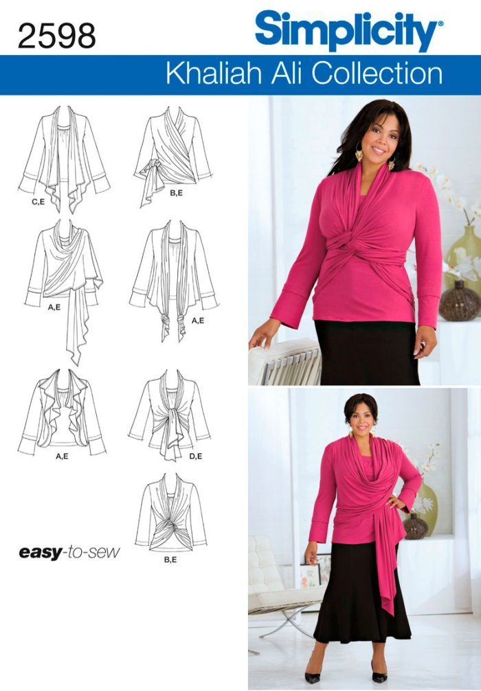 Bellainc Simplicity Sewing Pattern 2598 Womens Plus Size Tops