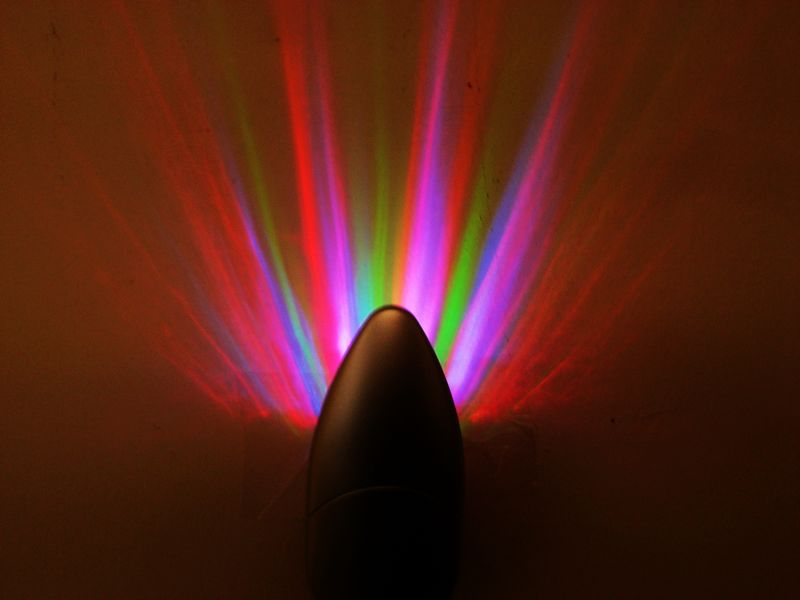 Colorful Rainbow Rays Wall Plug LED Night Light Energy