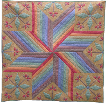 quilt top pattern harvest star throw size strip piece machine applique new ebay. Black Bedroom Furniture Sets. Home Design Ideas