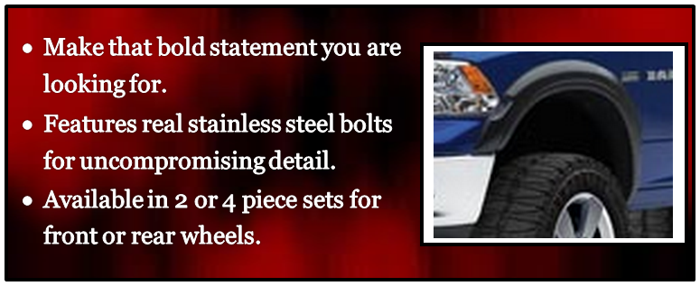 EGR 754694 Set Of 4 No-Drill Front/Rear Rugged Look Fender