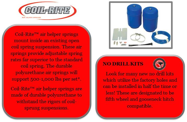 6130 Polyurethane Coil-Rite Rear Air Helper Spring for Dodge Ram 1500