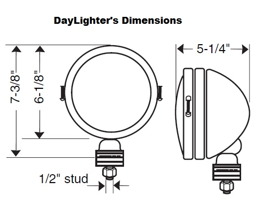 kc hilites 634 daylighter 6 u0026quot  130w driving light kit  black