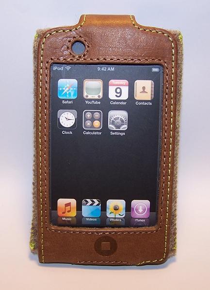 belkin brown leather eco case for ipod touch 2g 3g ebay. Black Bedroom Furniture Sets. Home Design Ideas