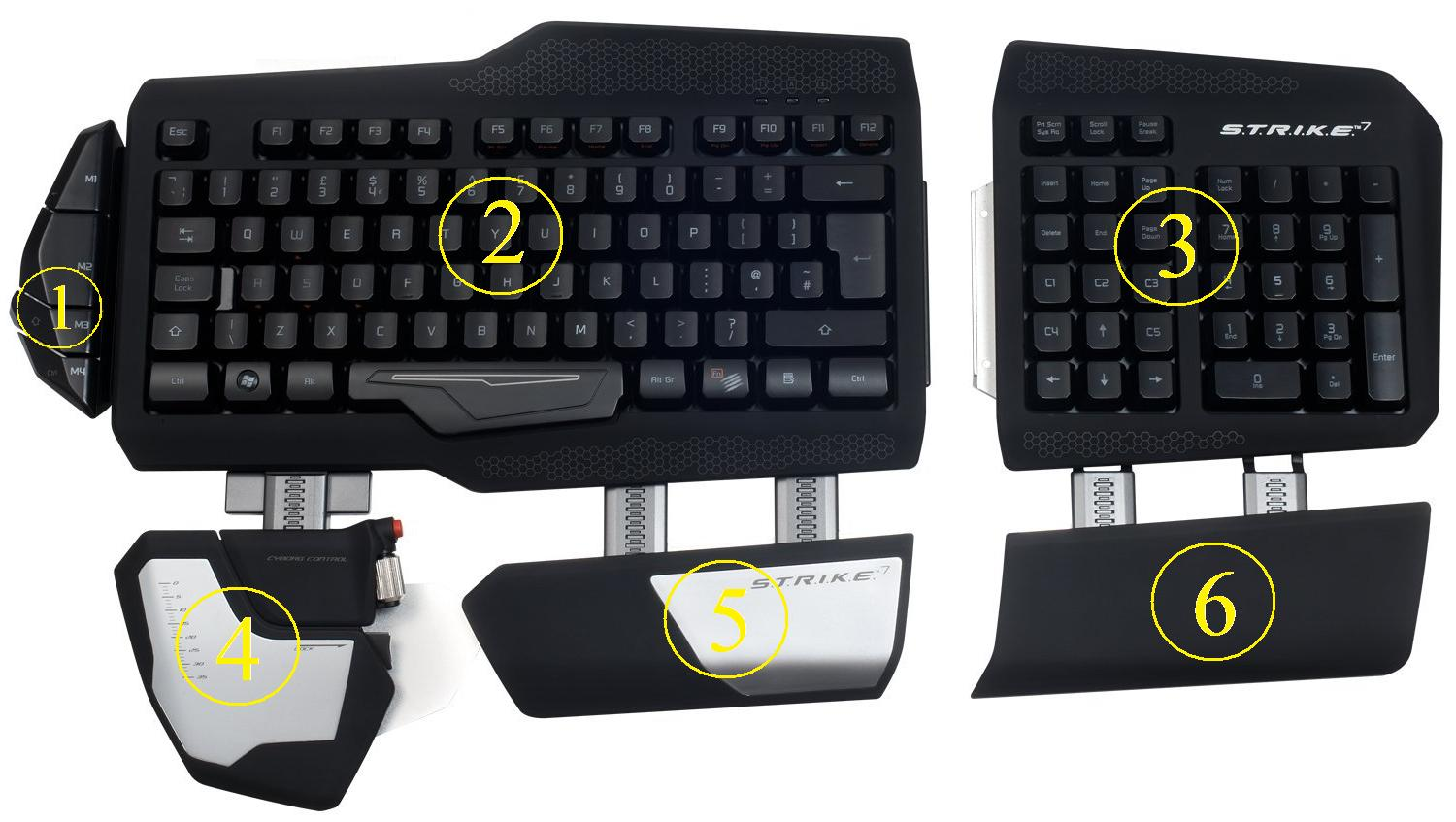 Replacement Parts For Mad Catz Gaming Keyboard