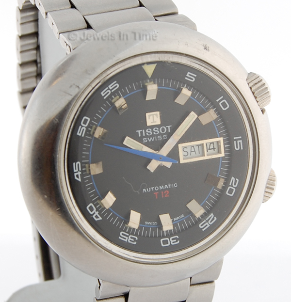 Tissot T12 Mens Stainless Steel Watch with Day/Date
