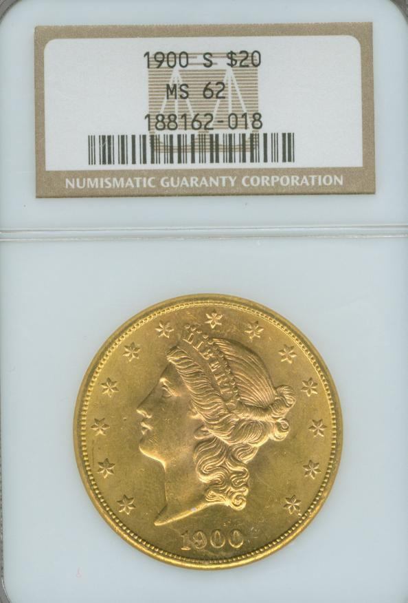 Hitahomer 07 1900 S 20 Liberty Head Double Eagle Gold