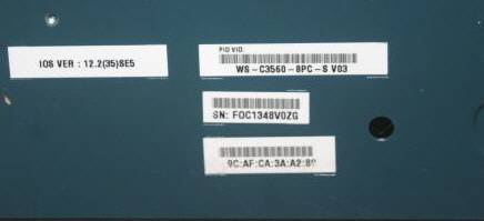 getpaid : CISCO WS-C3560-8PC-S Catalyst Managed Switch 3560