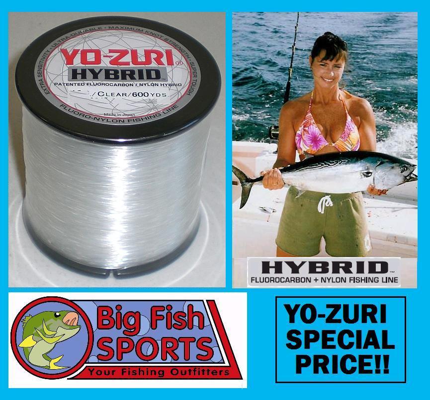 Yo zuri hybrid fluorocarbon fishing line 600yd clear ebay for Fishing yo yo