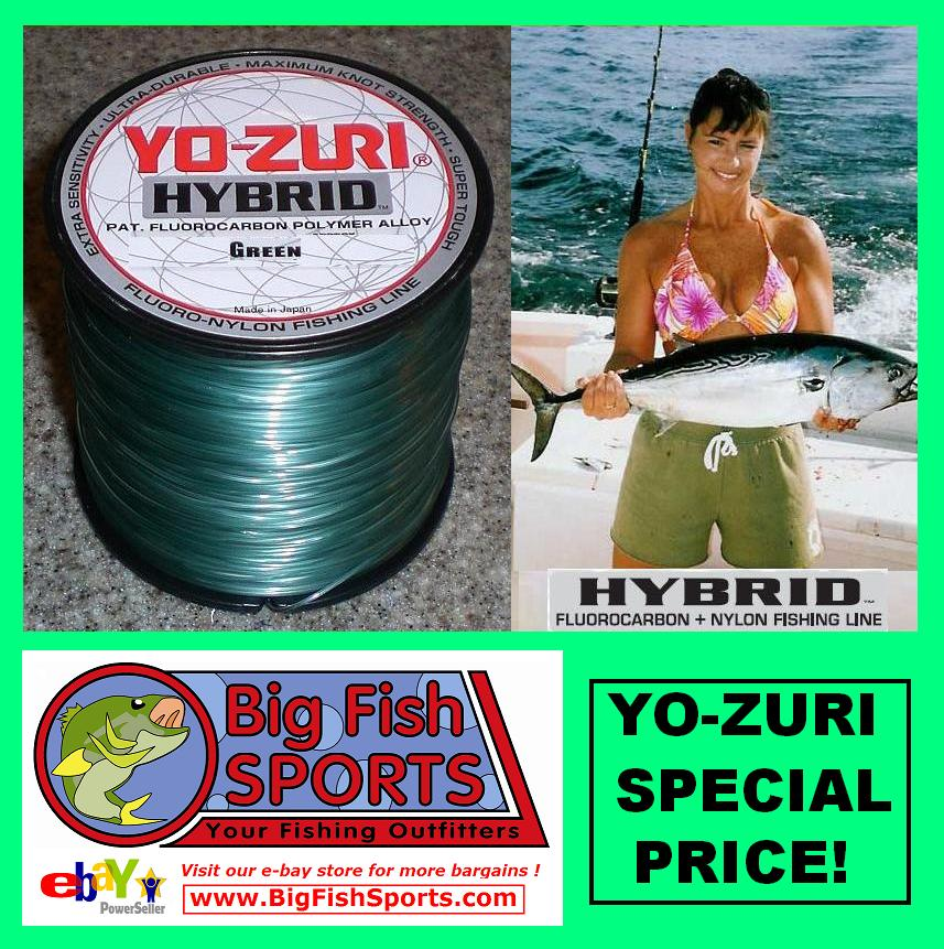 Yo zuri hybrid fluorocarbon fishing line 600yd any size ebay for Yo zuri fishing line