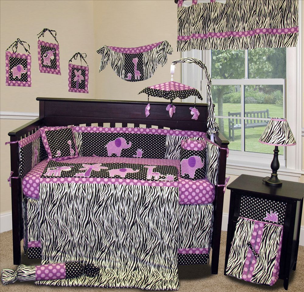 8344193093610 Baby Boutique - Animal Planet (Purple) - 15 pcs Nursery Crib Bedding ...