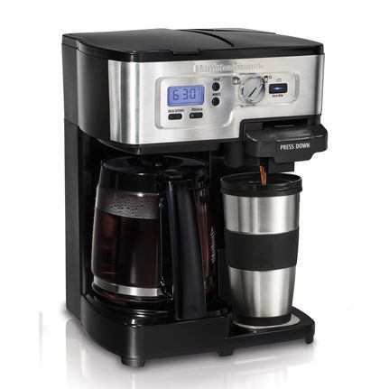 Coffee Maker Into Travel Mug :  New Hamilton Beach 2-Way Flex Brew Coffee Maker Single/12 Cup with Travel Mug eBay