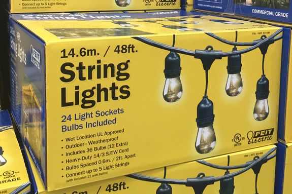 Feit Electric String Lights 12 Ft : NEW Feit Electric 24 Lights 48ft Outdoor Yard Patio Light String Bulbs Included eBay