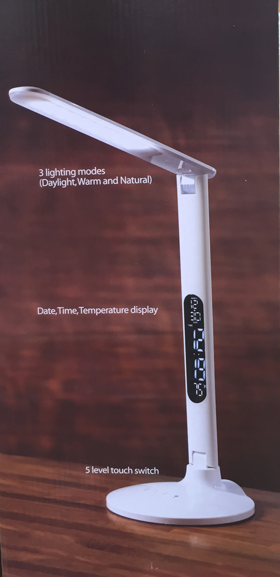 New Normande Lighting All In One Led Desk Lamp Clock