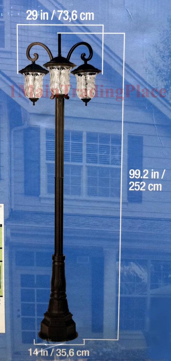 New Innova Lighting 3 Light Outdoor Led Lamp Post Lantern