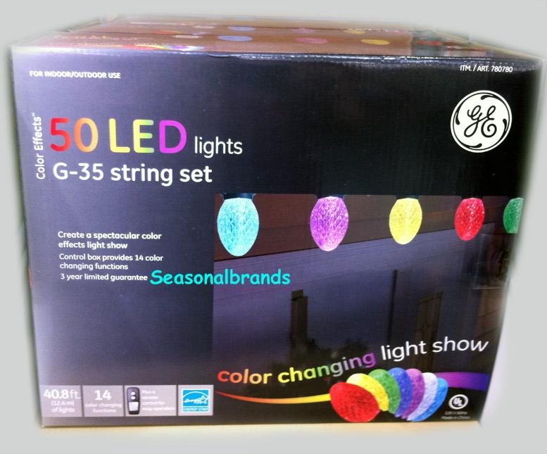 Led Lights G35 String Set : Christmas Decoration Color LED 50 GE G35 Bulb Light String Rope Outdoor Lighting eBay