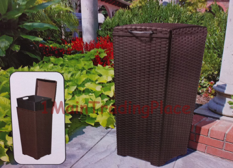 Patio Trash Cans Outdoor Goods