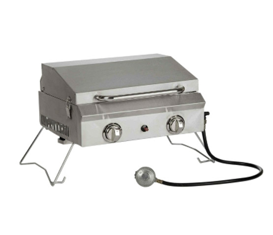 NEW Large Portable Stainless Steel Gas Grill With Cover