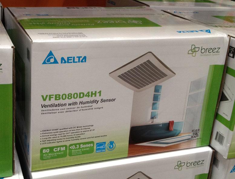 Delta Breez Bathroom Fans Sig80mled Breezsignature 80 Cfm: NEW Delta VFB080D4H1 80 CFM Quiet Ventilation Fan With