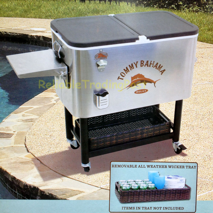 New Tommy Bahama 100 Quart Stainless Patio Cooler 130 Can