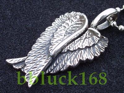 ANGEL WINGS STERLING SILVER PENDANT CHARM NEW w/CHAIN