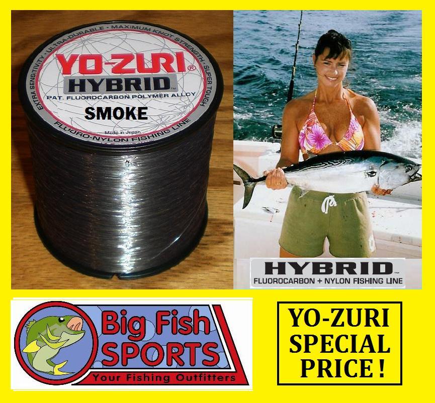 Yo zuri hybrid fluorocarbon fishing line 30lb 600yd sp for Fishing yo yo