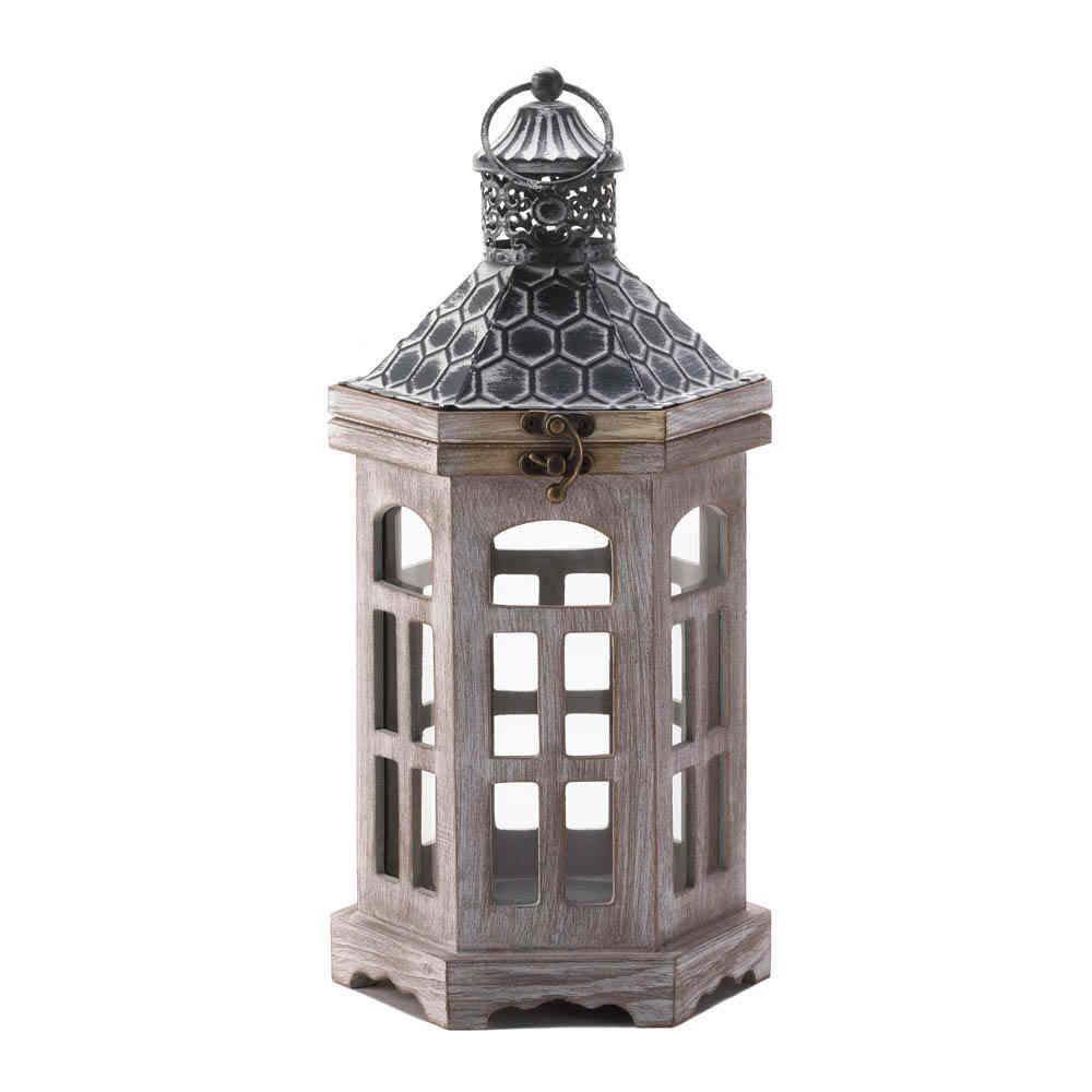 Elegant Wood Tower Candle Lantern Wedding Centerpieces