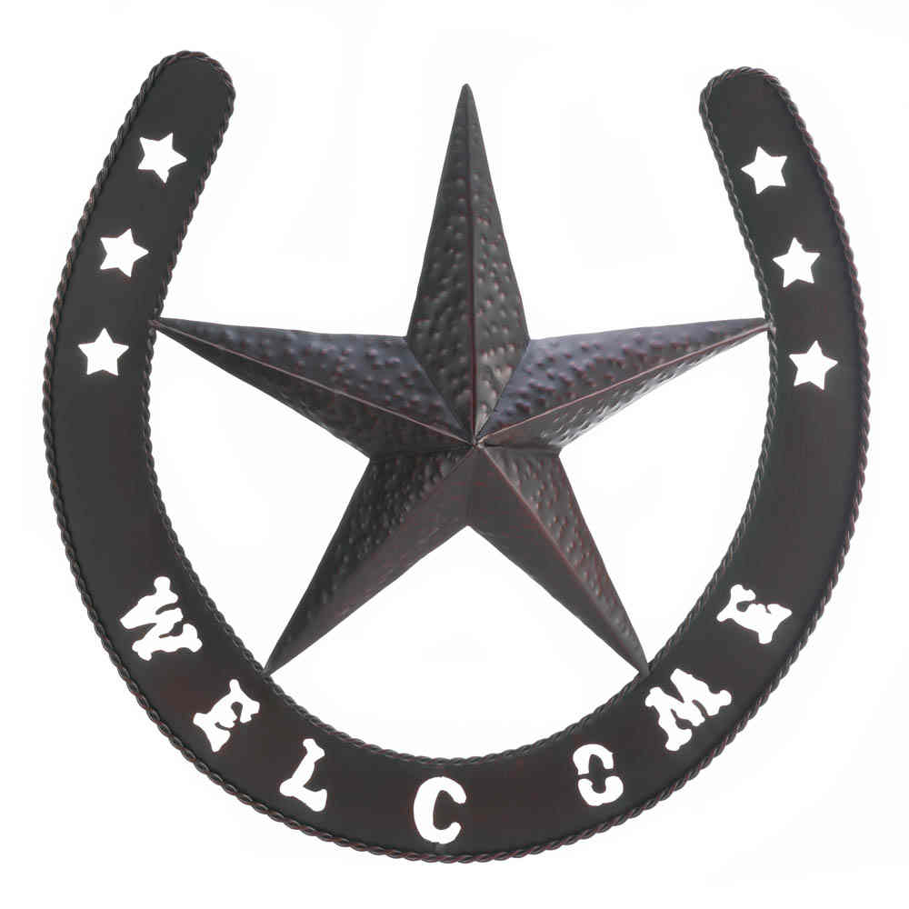 Metal Wall Plaque texas star metal wall plaque horse shoe, big wall art,metal art