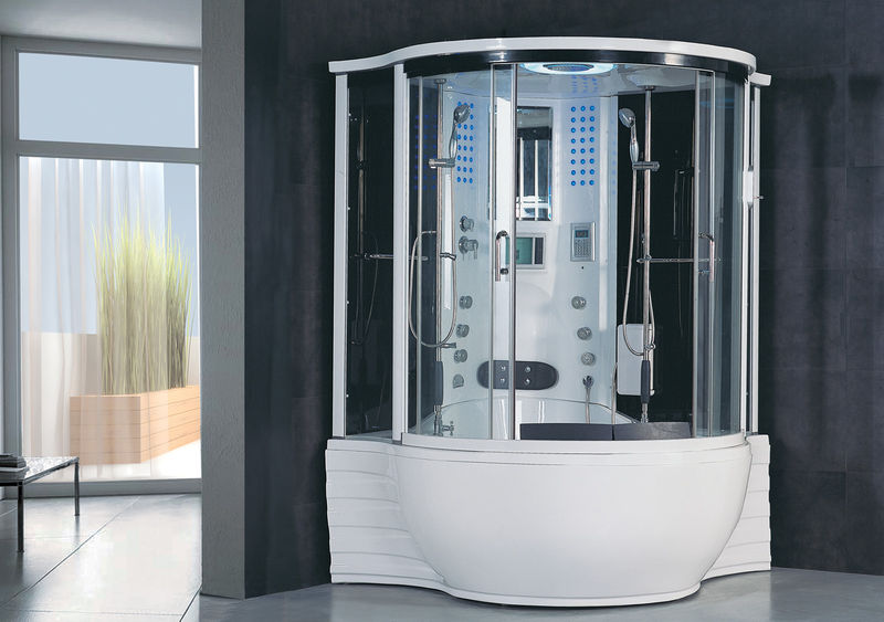 jacuzzi whirlpool bath tub shower steam sauna massage jets spa tv mp3 white new. Black Bedroom Furniture Sets. Home Design Ideas