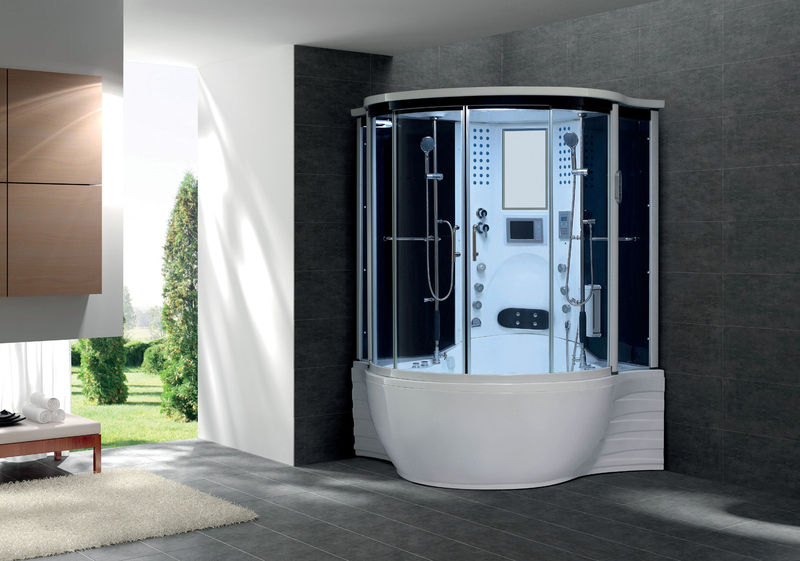 newsovanna 2 person deluxe computerized whirlpool jacuzzi type bathtuband steamshower model. Black Bedroom Furniture Sets. Home Design Ideas