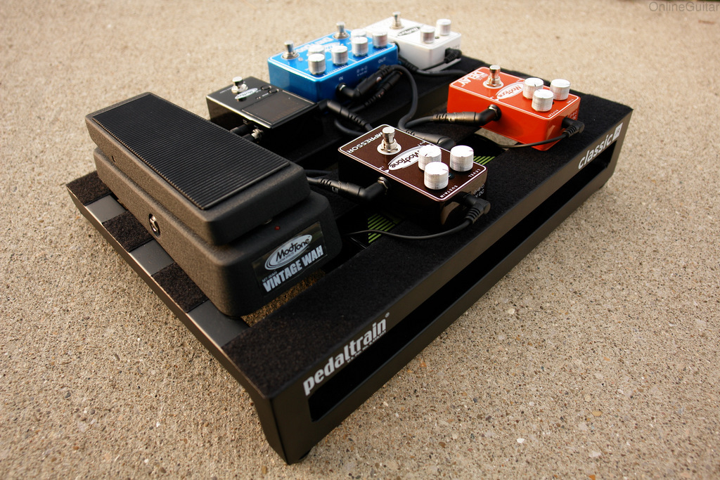 Best Pedal Cables : New pedaltrain modtone gig ready pedalboard w effects