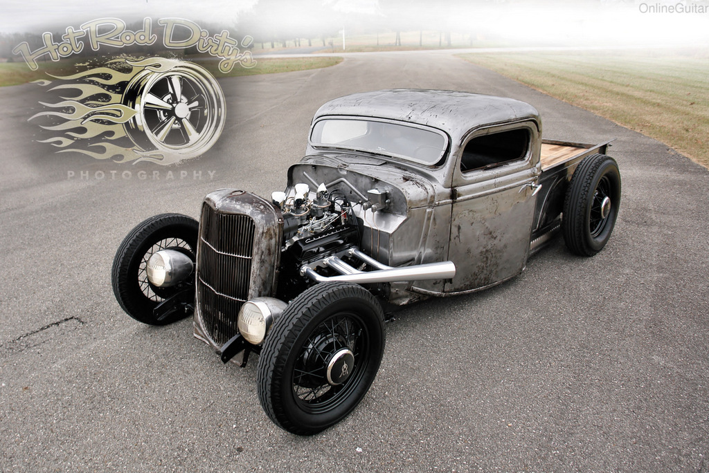 1935 36 Ford Pickup Truck, Chopped Bare Metal Hot Rod | The H.A.M.B.