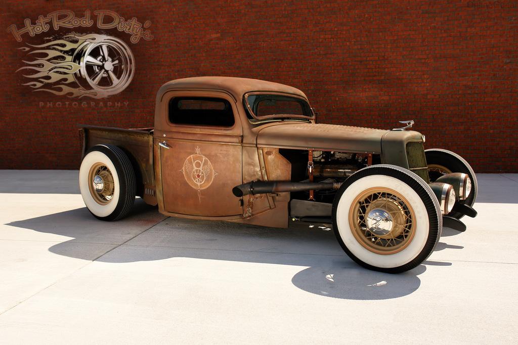 Chopped 1936 Ford Pickup, Air Ride | The H.A.M.B.
