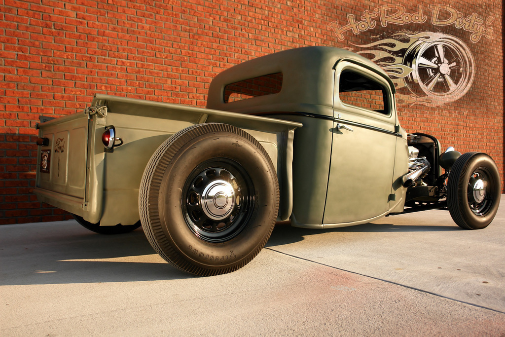 Sell new 1935 36 CHOPPED FORD PICKUP TRUCK HOT ROD RAT STREET ...