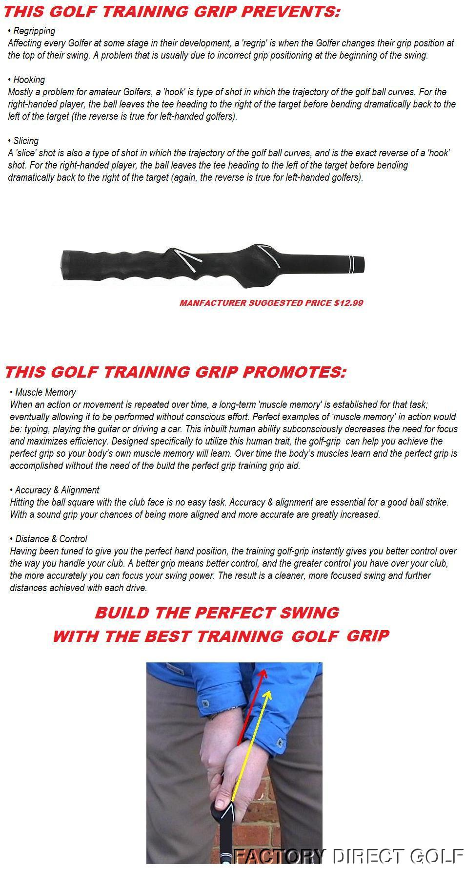 1 Rated TRAINING GOLF CLUB Learning GRIP Standard Size LEFT
