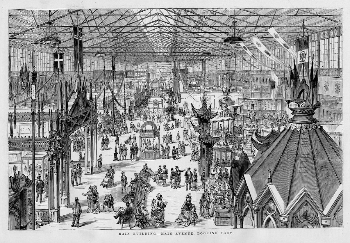 PHILADELPHIA 1876 CENTENNIAL EXPOSITION WORLD'S FAIR MAIN BUILDING  ARCHITECTURE