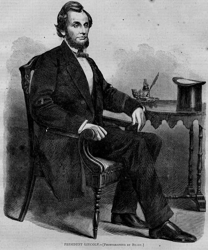 president abraham lincoln with his top hat harpers weekly