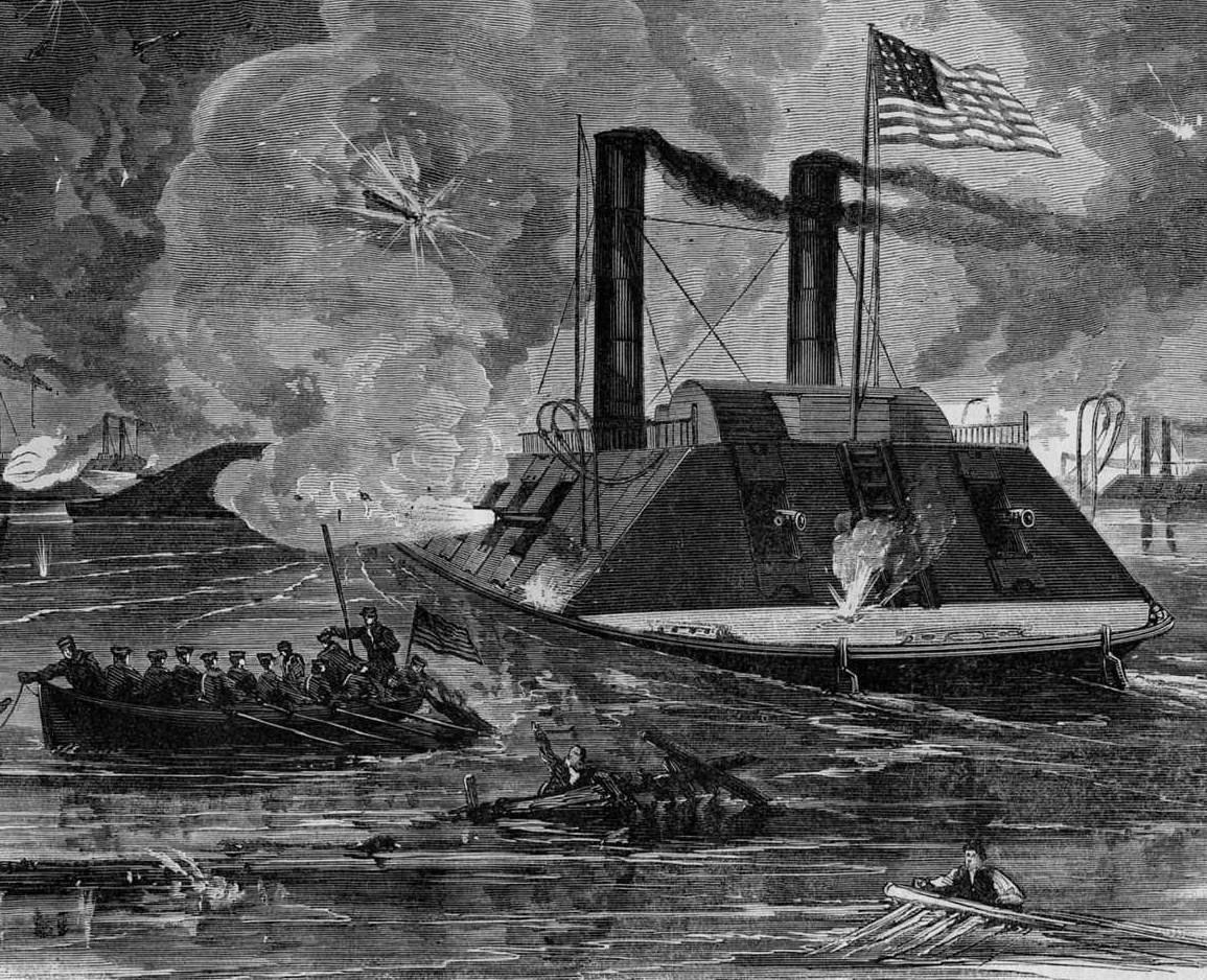 civil war battle coloring pages stones river | CIVIL WAR NAVAL COMBAT GUNBOAT FIGHT OFF FORT WRIGHT ...