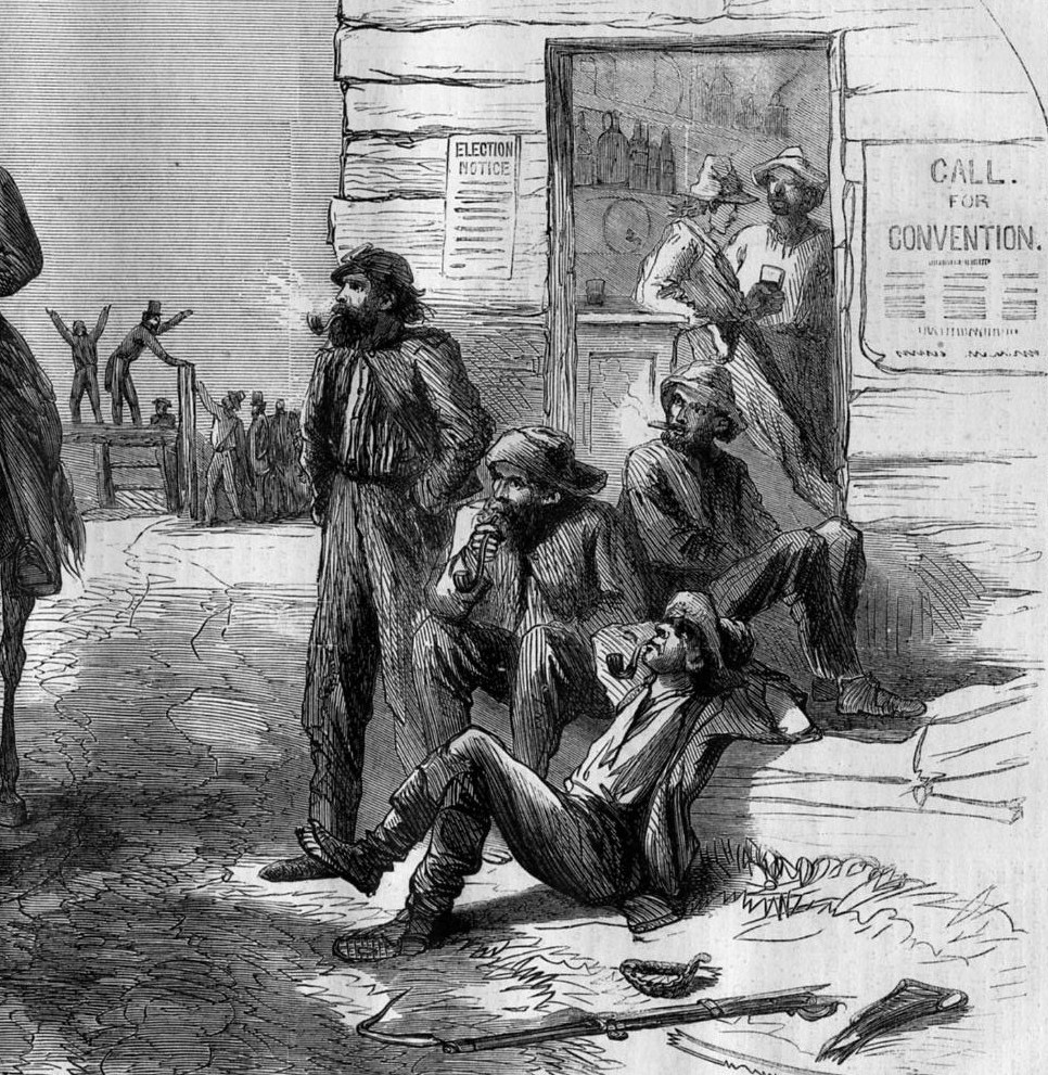 slave labor in the south Many former slaves believed that their years of unrequited labor gave them a  claim  and the federal government's decision not to redistribute land in the  south,.