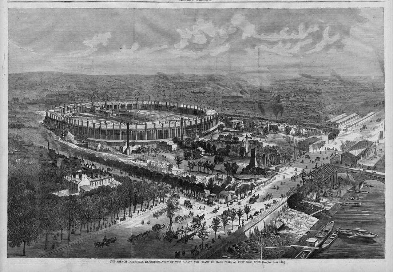 French industrial exposition palace and champ de mars for Expo paris mars