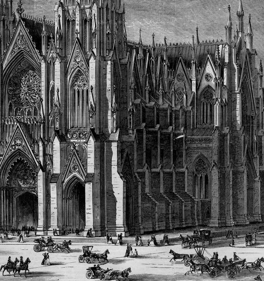 ST. PATRICK'S CATHEDRAL HISTORY NEW YORK ANTIQUE ...