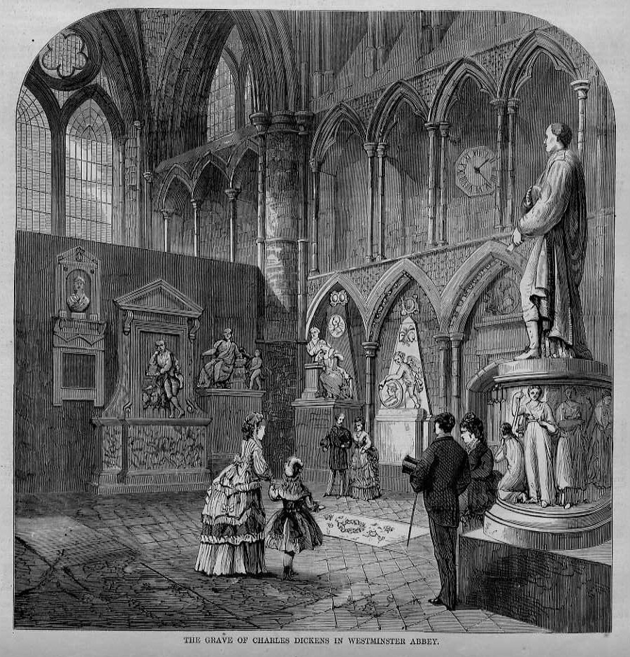 Image result for dickens grave 1870