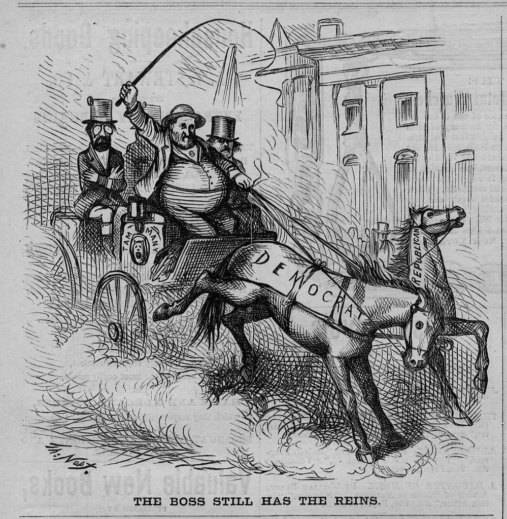 Details About Boss Tweed And Tammany Members The Boss Still Has The Reins Horse By Thomas Nast