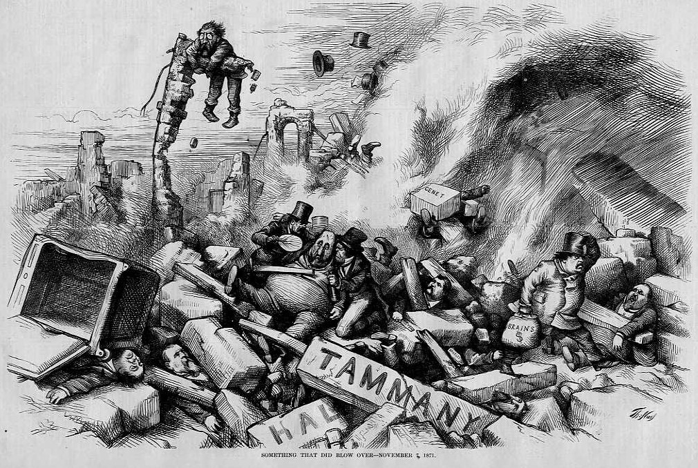 boss tweed Criminal he is mainly remembered for the appointments of his dishonest colleagues to new york city governmental positions this was part of his tammany hall political machine resulting in him embezzling massive sums of money from the city.