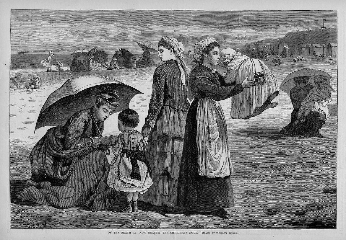 WINSLOW HOMER, ON THE BEACH AT LONG BRANCH--THE CHILDREN'S ...