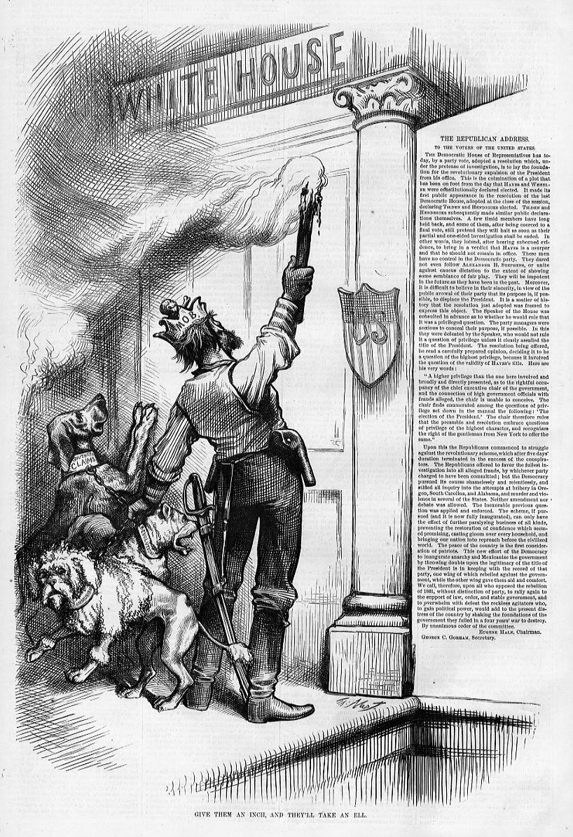 DOGS SENATOR THURMAN SPEECH AT COLUMBUS OHIO UNCLE SAM DOGS BY THOMAS NAST