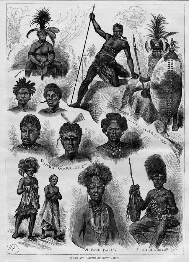 Details about ZULUS AND CAFFRES OF SOUTH AMERICA, ZULU DOCTOR WARRIOR