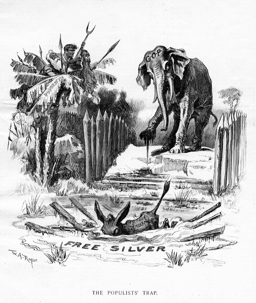 republican elephant and democratic donkey by thomas nast political