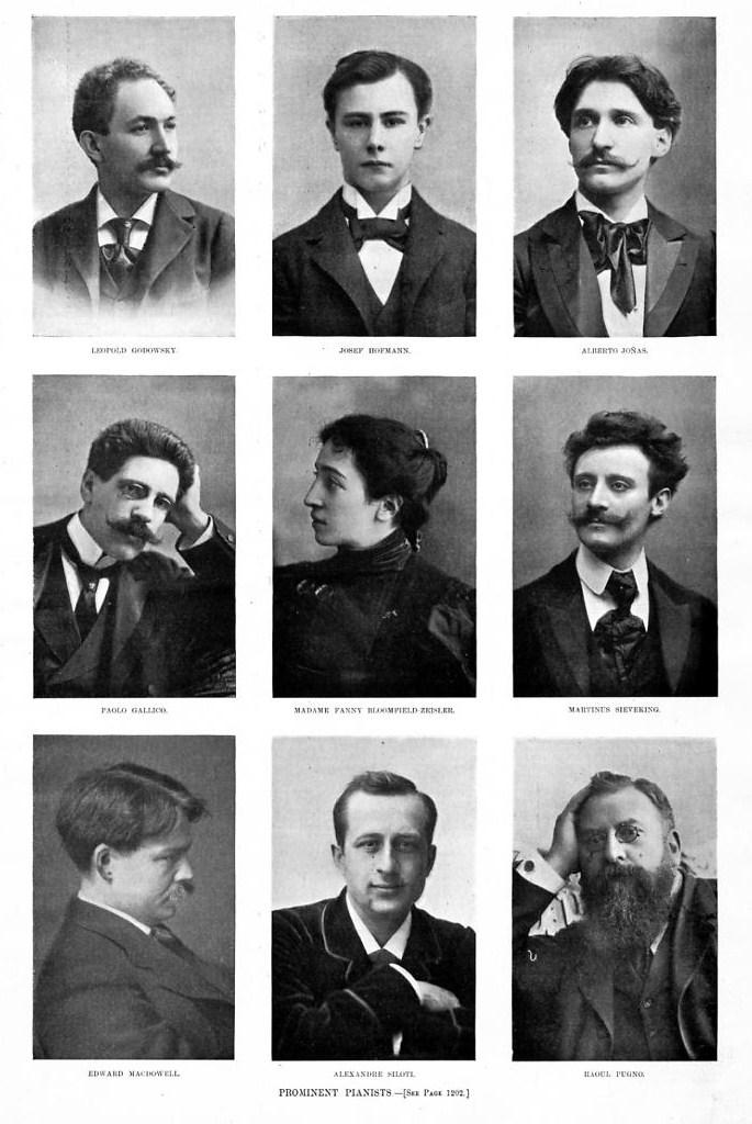 PROMINENT PIANISTS PUGNO GALLICO SILOTI GENEALOGY 1897 HISTORY PIANO