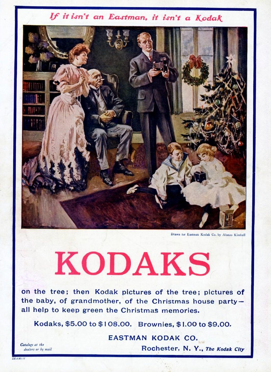 Kodak poster 1894 advertising multiple sizes