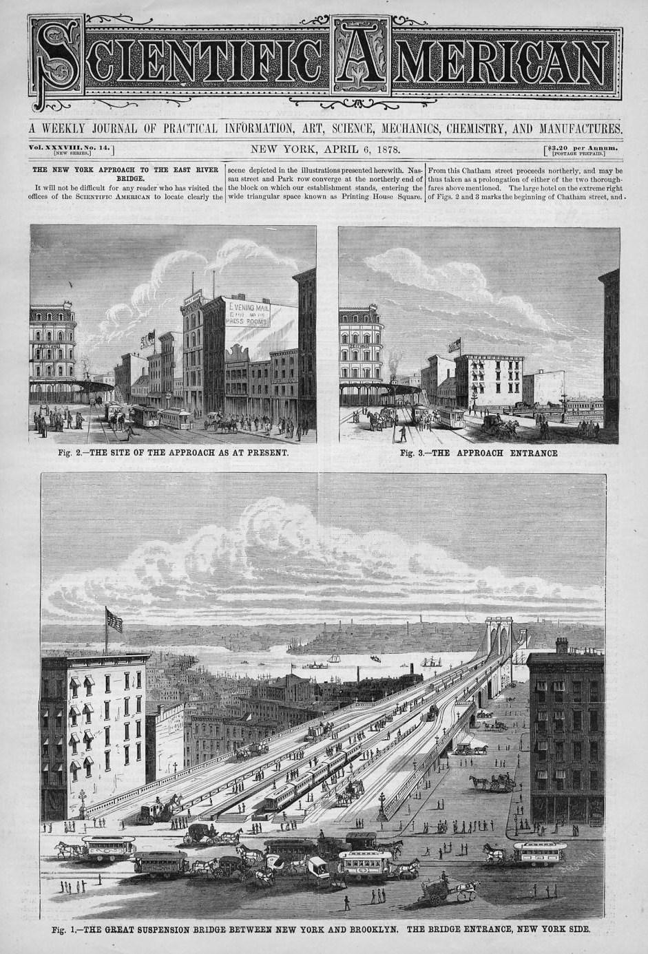 Brooklyn Suspension Bridge History New York Approach